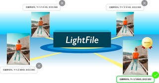 画質を保ちながら、ファイルサイズを軽くするLightFileの処理は、「比較して選ぶ」が重要なのです。
