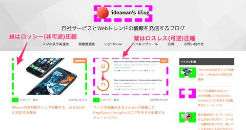 WebP画像を目立たせるChrome拡張機能 WebP Highlighter